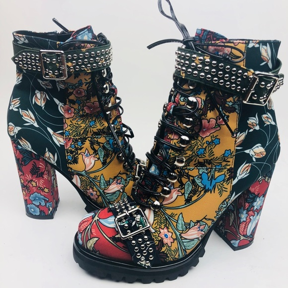 fa97c9ee965c Jeffrey Campbell Shoes -  Jeffrey Campbell  Floral Print Lilith Boot